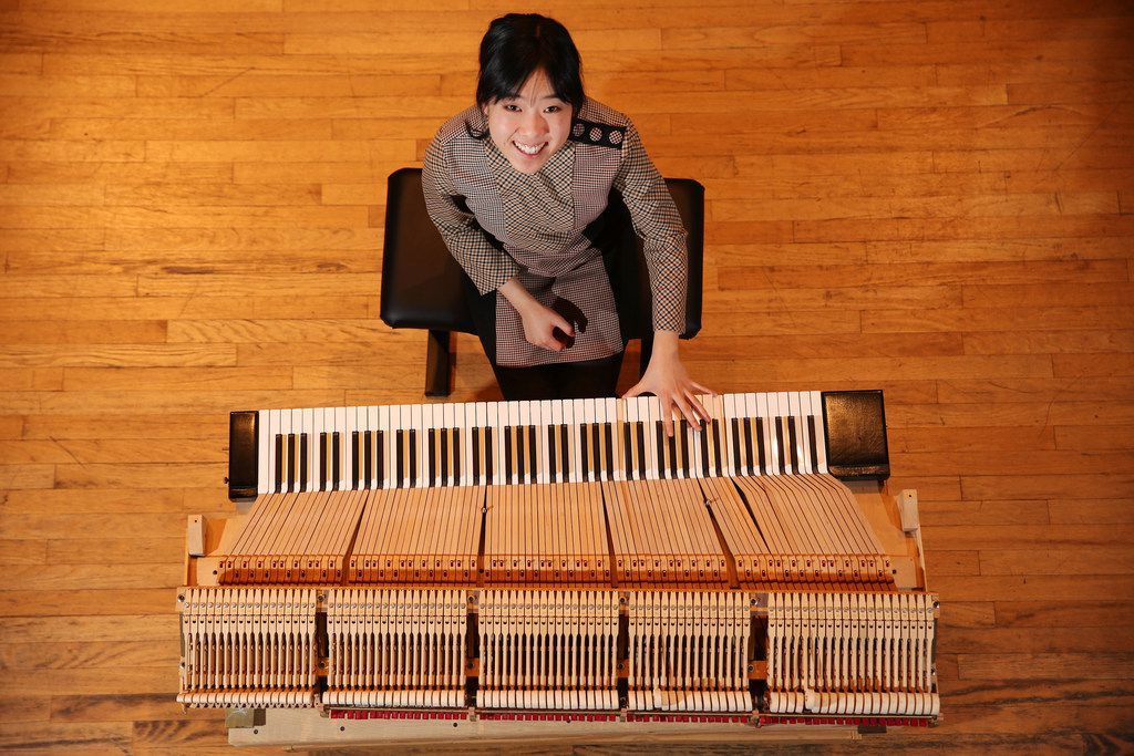 """Eliana Yi says that since playing the smaller keyboards, """"I haven't had a single injury, and I can practice as long as I want."""""""