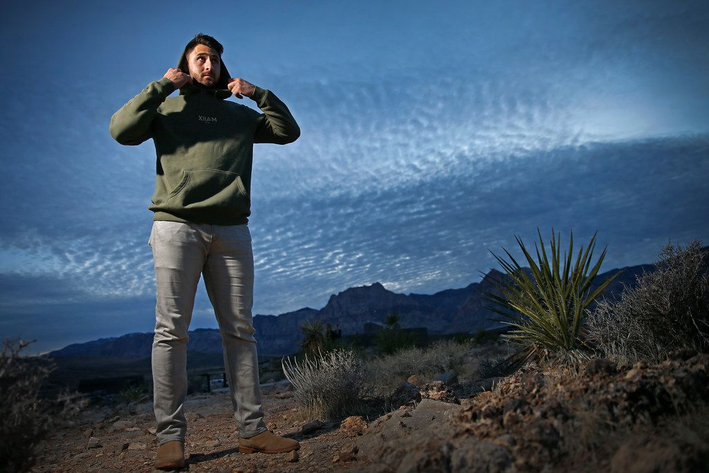 Texas Rangers first baseman Joey Gallo poses for a photograph at Red Rock Canyon in Las Vegas, Monday, Jan. 15, 2018. (Jae S. Lee/The Dallas Morning News)