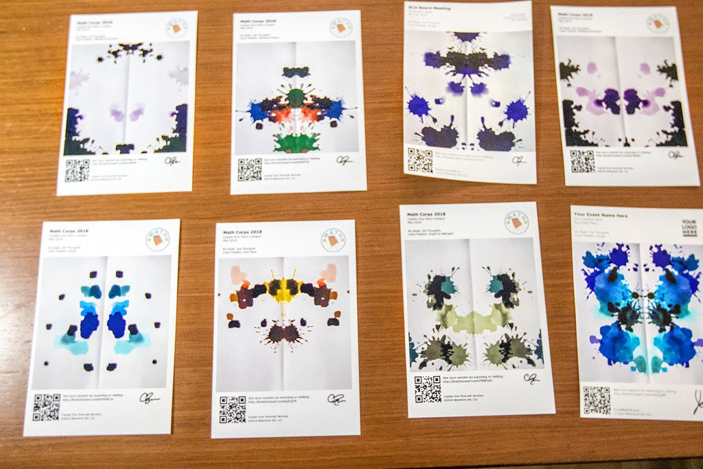 Symmetrical inkblot art is among the things Braintone Art can be used to created.