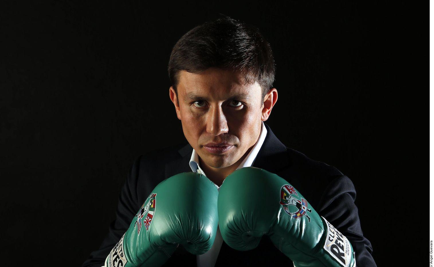 """Gennady Golovkin (foto), de 37 años, tiene su debut con DAZN en junio contra Steve Rolls, y aspira este año a una tercera pelea con Saúl """"Canelo"""" Álvarez. AGENCIA REFORMA"""