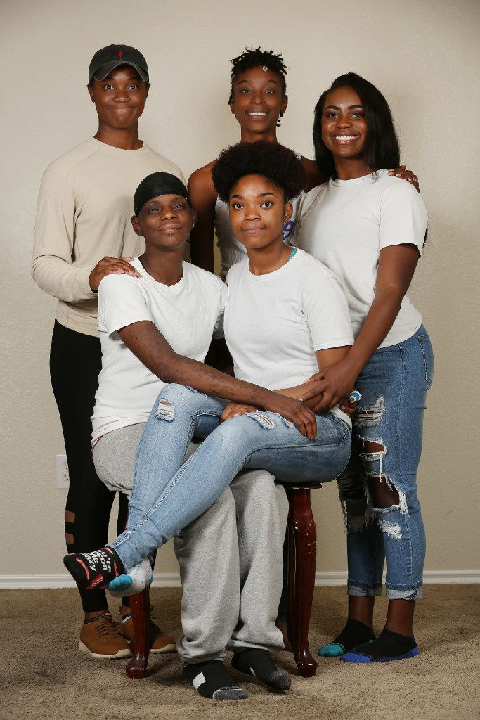 The Booker sisters. (Clockwise from top left) Cenecia Booker, Kylia Booker, Jessicah Roland, Ja'Bria Roland and Ciarra Booker.