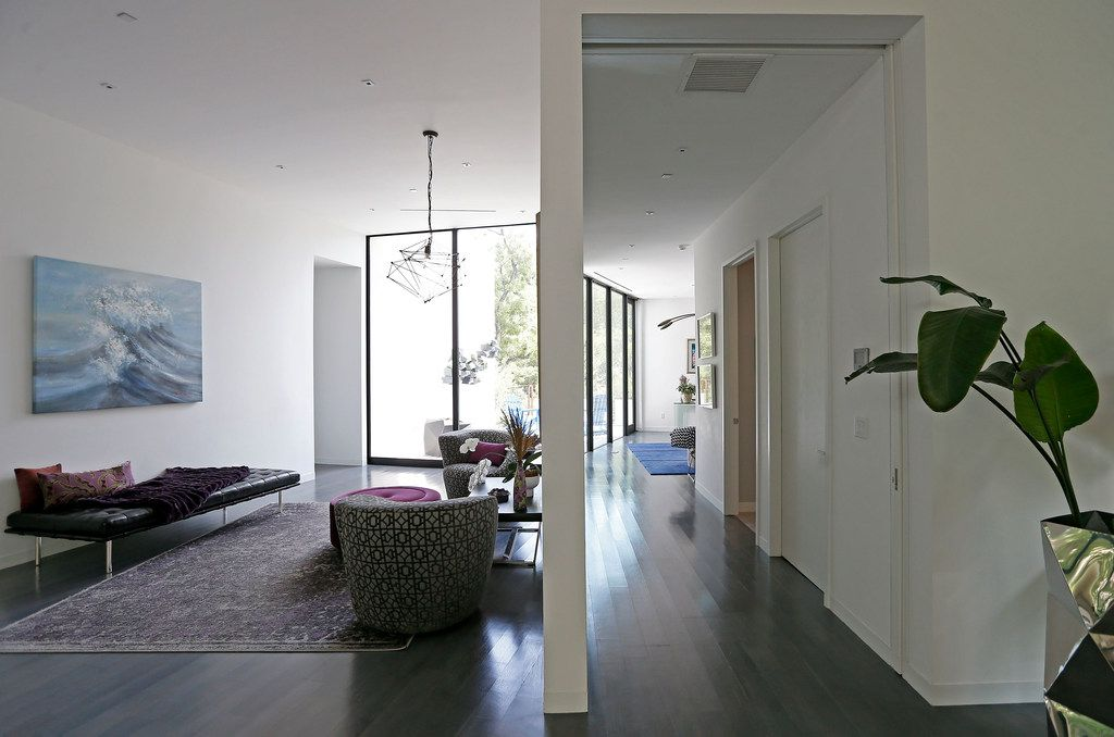 An open hallway inside Lynn Rush's LEED Platinum-certified home in Addison, Texas, Wednesday, July 11, 2018.