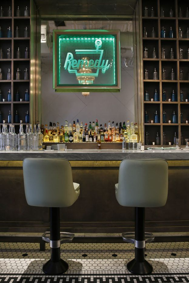 The bar at Remedy restaurant on Lower Greenville in Dallas, Tuesday, December 8, 2015.  (Tom Fox/The Dallas Morning News)