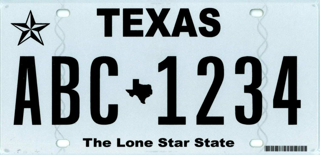 """Abbott says he's not fond of the """"Texas Classic"""" license plate, introduced in 2012."""