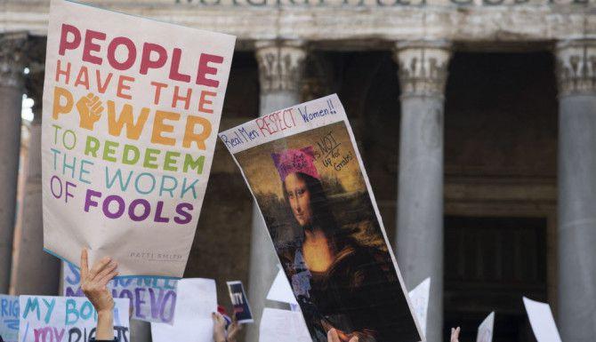 Marcha de Mujeres en Italia/ AP
