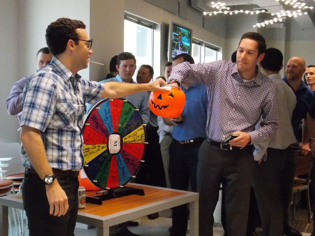 Merit Energy sponsors an afternoon happy hour and employees gather together to support its  MS150 Bike Team by participating in The Wheel of Misfortune.   Items are donated that people wouldn t necessary be thrilled about (used coffee mugs, bobble heads, etc.) and then the company donates prizes such as sports tickets, electronics, reserved parking and extra vacation days.  Employees pay to  spin the wheel.   Over the last several years, our employees have raised more than $375,000 for multiple sclerosis research.