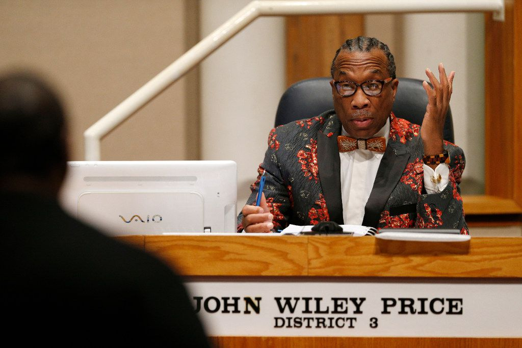 County Commissioner John Wiley Price at a commissioners court meeting in Dallas on December 20, 2016. (Nathan Hunsinger/The Dallas Morning News)