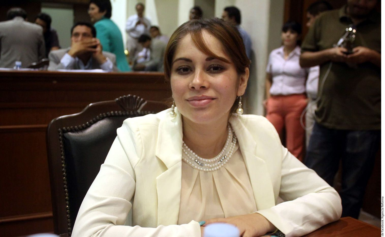 La visa de Lucero Guadalupe Sánchez López estaba estaba en la lista negra de las autoridades migratorias por tener una orden de captura por cargos de conspiración, misma que al parecer desconocía. Foto tomada de Facebook mediante AGENCIA REFORMA