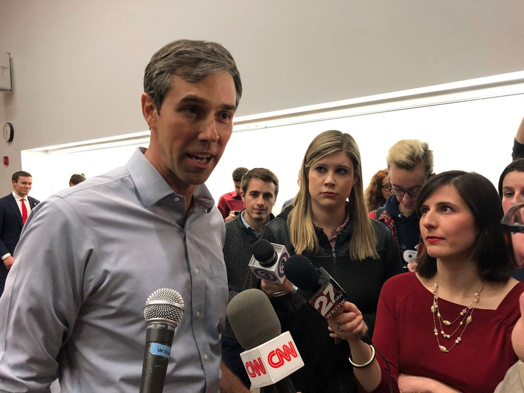 Potential 2020 Democratic presidential candidate Beto O'Rourke told reporters Friday in Madison, Wis., that he plans to make a decision soon on whether to get in the race. O'Rourke's first visit to the battleground Midwest continued Saturday with an address to the United States Hispanic Leadership Institute's national conference in Chicago.