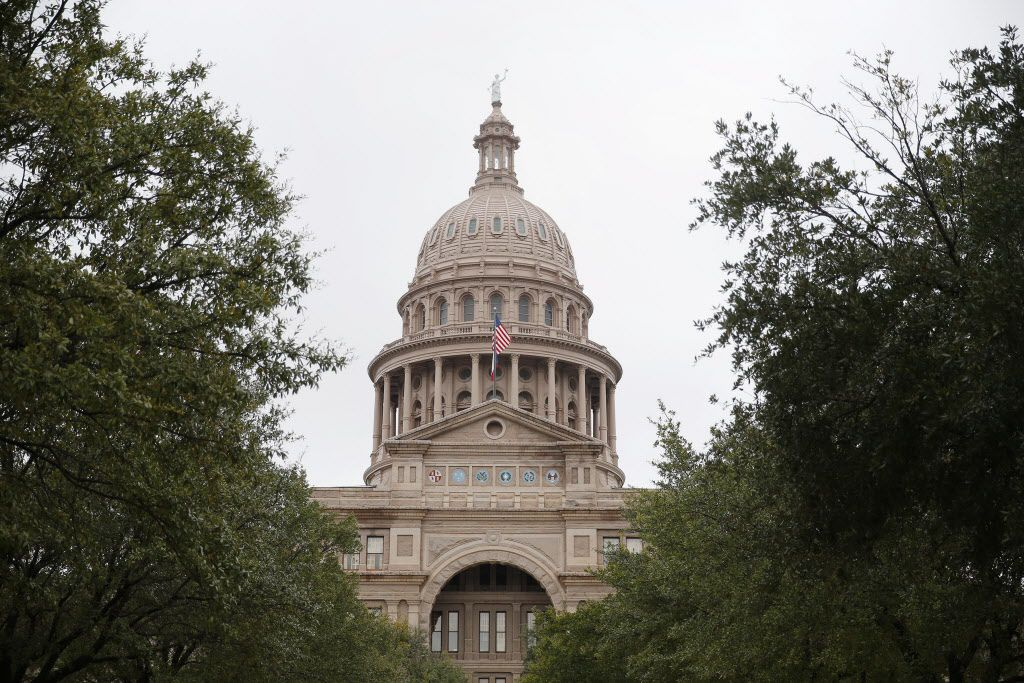 An exterior of the Texas State Capitol in Austin Wednesday February 4, 2015.