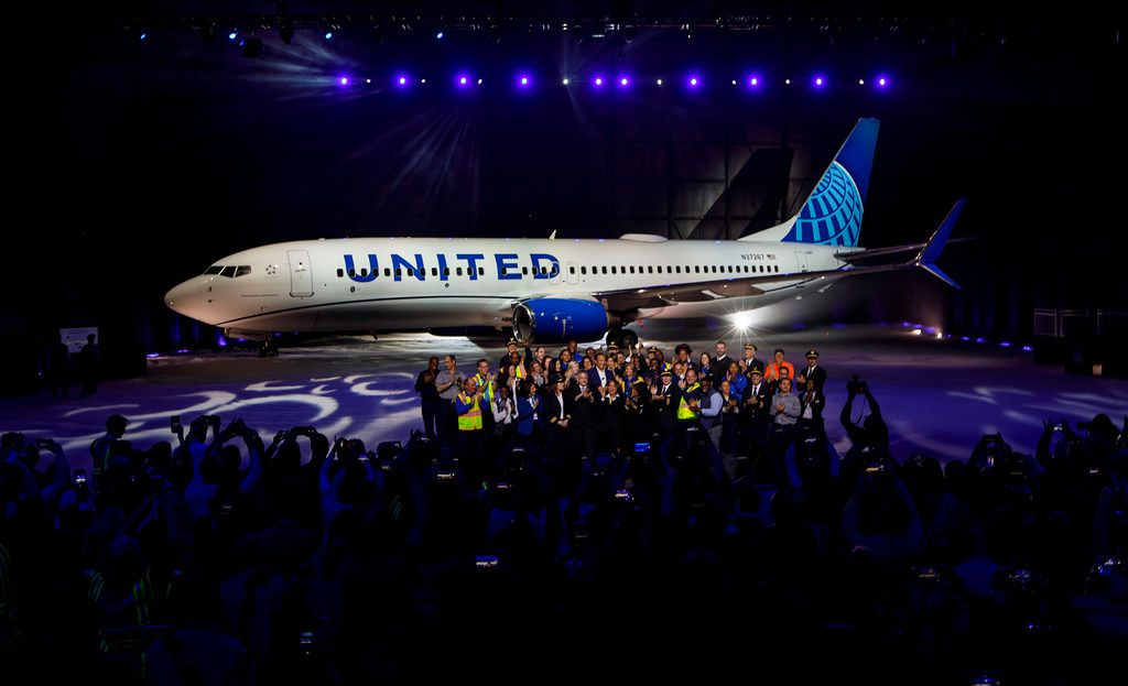 United Airlines unveils a new design for its planes on April 24, 2019, at O'Hare International Airport in Chicago. (Brian Cassella/Chicago Tribune/TNS)