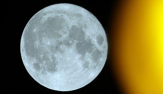 La Súper Luna desde Francia ./AP