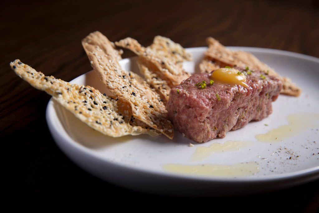 Salmon Tartar Treat order at The Royale Magnificent Burgers Thursday, February 18, 2016 in Plano, Texas. (G.J. McCarthy/The Dallas Morning News)Tr