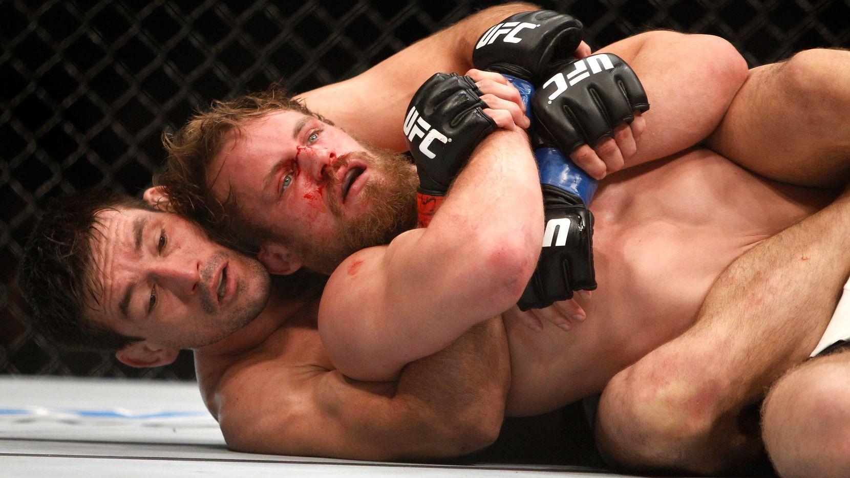 Demian Maia (abajo) tiene marca de 19-6 en combates de UFC. (Getty Images/Steve Marcus)