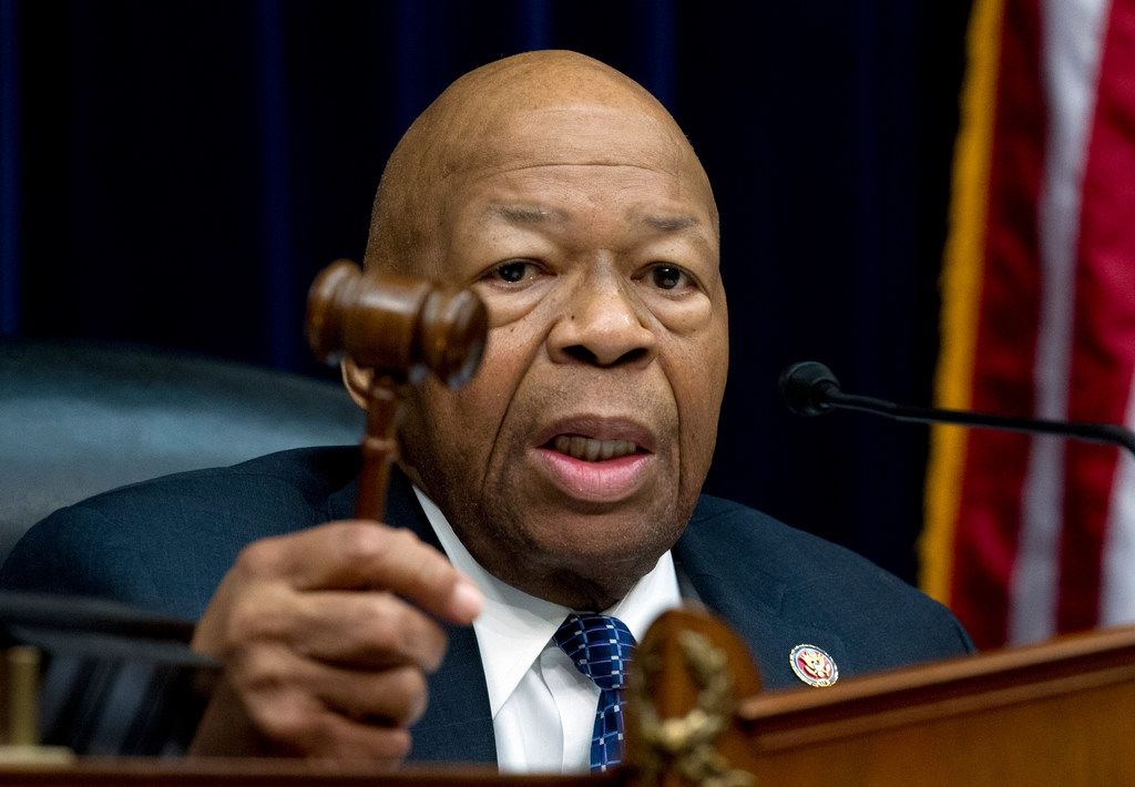 House Oversight and Reform Committee Chair Elijah Cummings, D-Md., speaks during the House Oversight Committee hearing on March 14, 2019.
