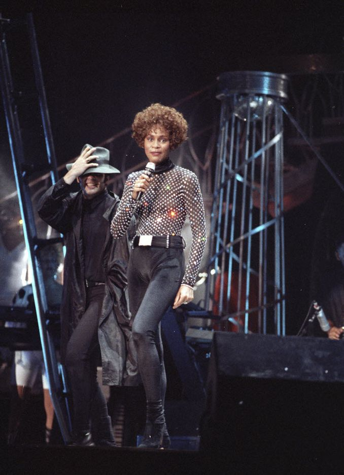 Whitney Houston performed at the Starplex Amphitheatre on May 31, 1991. (Milton Hinnant/The Dallas Morning News)