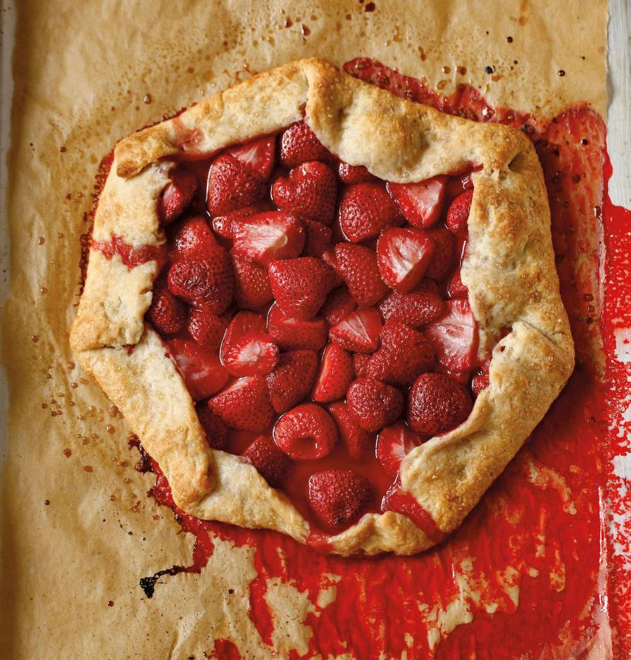 As with many of the recipes in Meatless in Cowtown, vegan options are given for the Rustic Strawberry Tart.