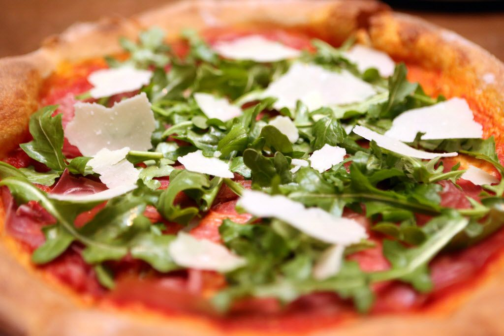 Prosciutto and parm pizza is shown at Fireside Pies in Dallas, Texas, Monday, January 24, 2014.