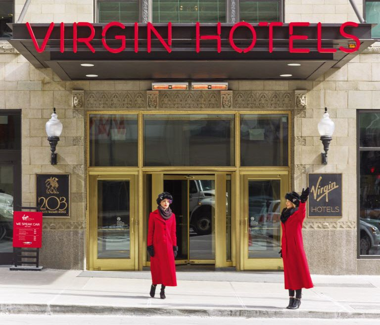 Virgin Hotels' first location, in Chicago, opened in January. (Virgin Hotels)