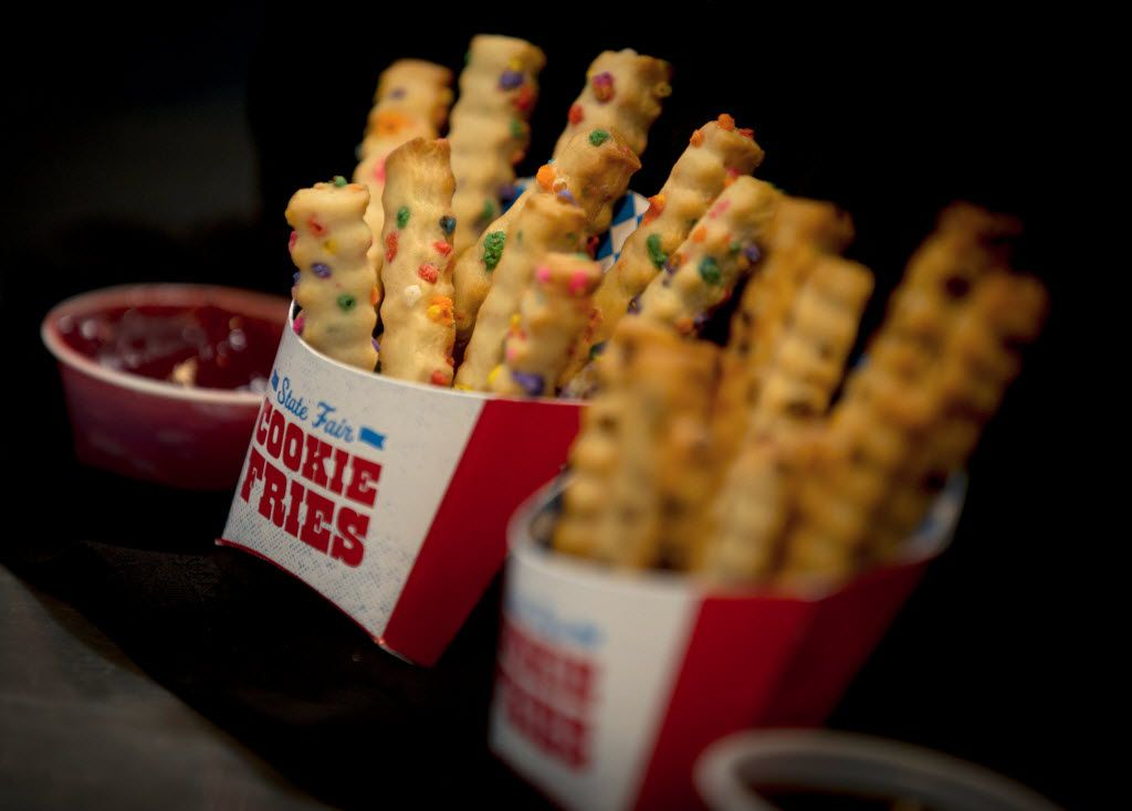 """Fried Cookie Fries, which won """"Most Creative"""" during the 2016 Big Tex Choice Awards Sunday, August 28, 2016 at Fair Park in Dallas. The annual event, held ahead of the State Fair of Texas, recognizes the best fried foods entered into consideration for sale at the fair. (G.J. McCarthy/The Dallas Morning News)"""