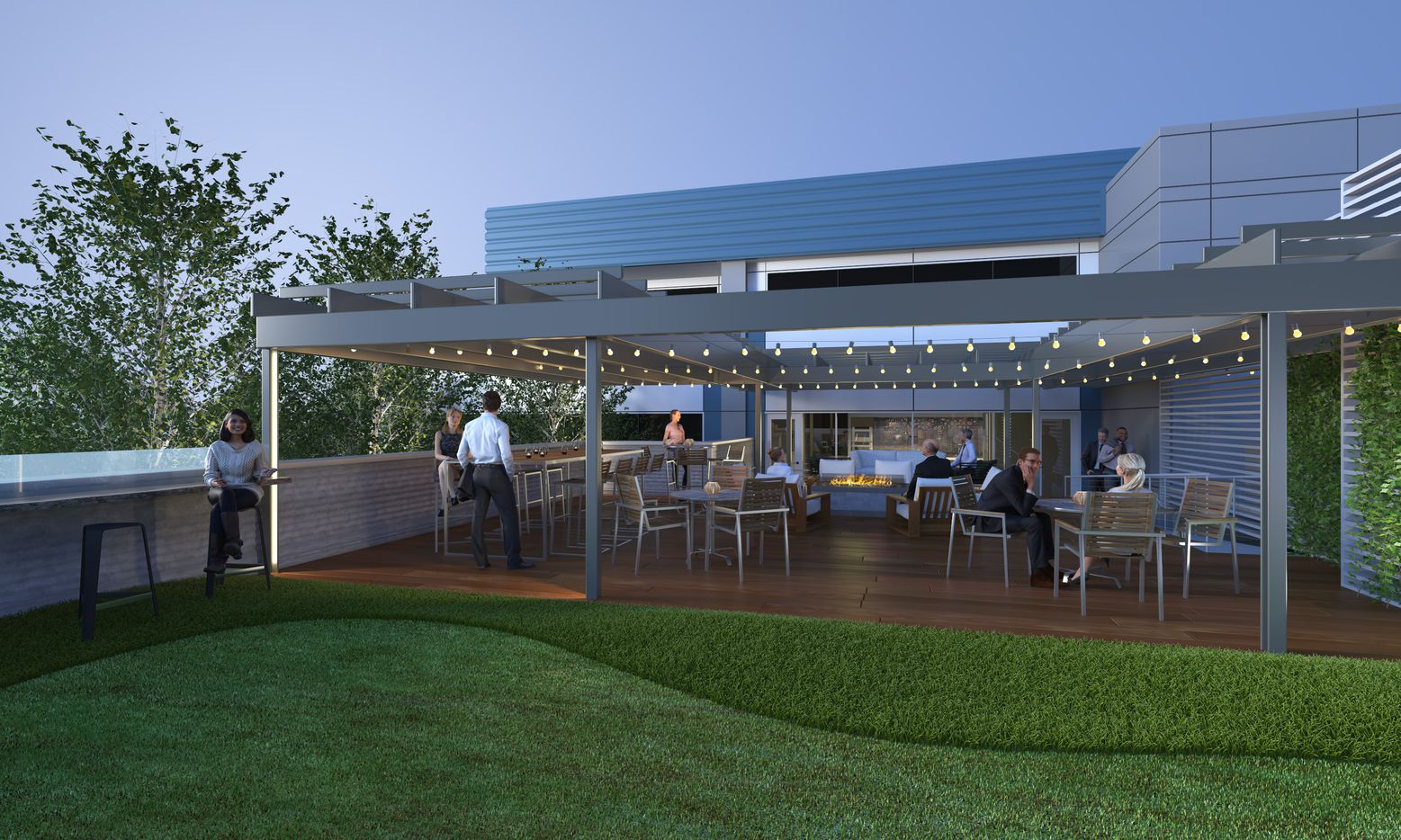 A rooftop deck is planned at the 3333 Welborn building.