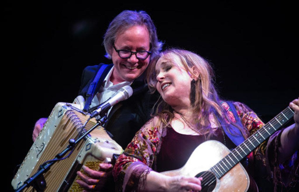 Barry Walsh and Gretchen Peters perform at the MCL Grand Theater in Lewisville on Feb. 17, 2019.
