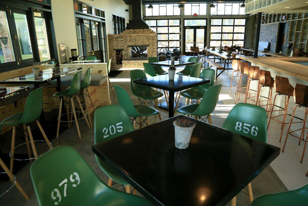 Canteen bar and restaurant at Cavalry Court hotel in College Station