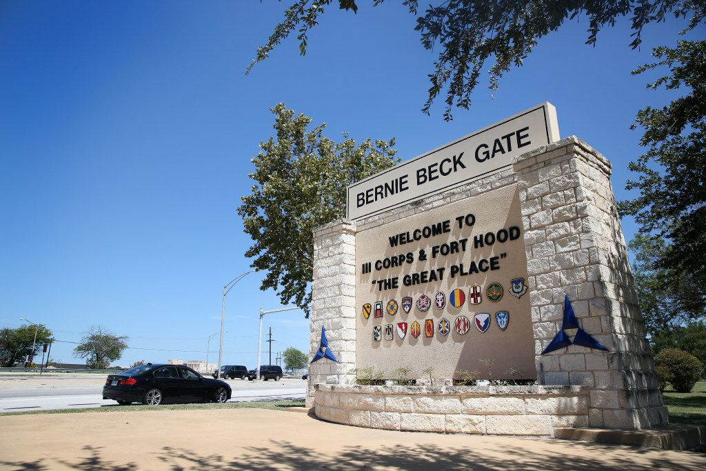 The Fort Hood U.S. military post in Fort Hood, Texas on Tuesday, Aug. 22, 2017. Some say, the base - one of the largest military bases in the world and a garrison named in honor of Confederate Gen. John Bell Hood -  should be renamed. (Rose Baca/The Dallas Morning News)