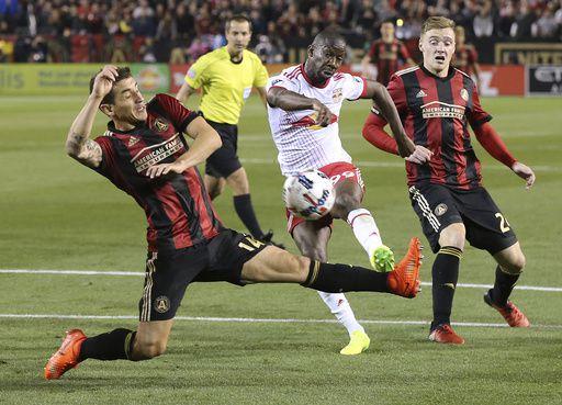 Atlanta United cayó 2 a 1 ante N.Y. Red Bulls el 5 de marzo en su primer juego en la MLS.  Compton/ccompton@ajc.com
