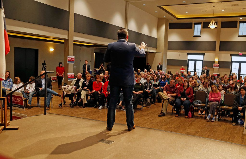 Sen. Ted Cruz campaigned in New Braunfels on Feb. 10.