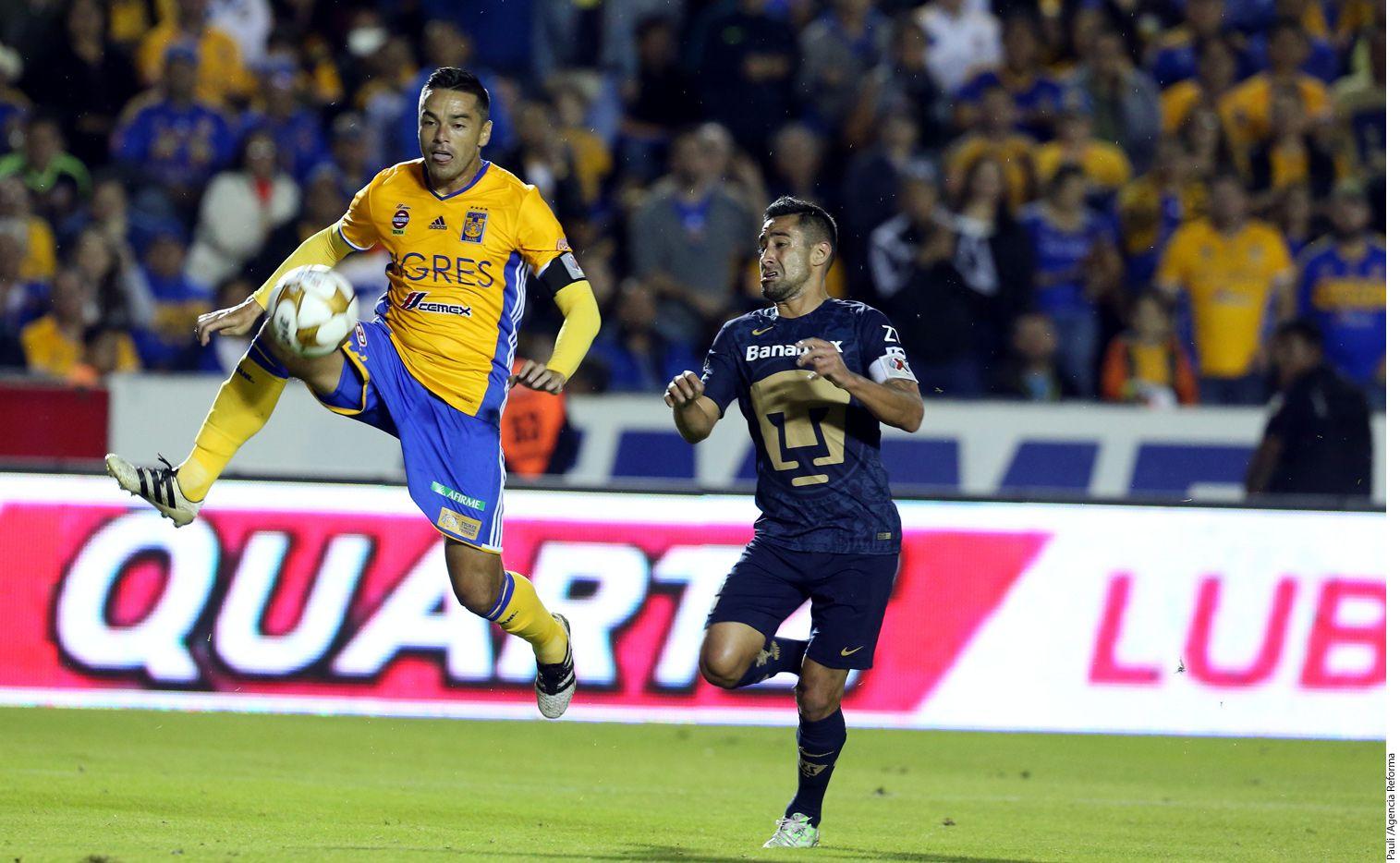 Tigres venció con un marcador total de 7-0 a los Pumas en la semifinales de la Liguilla mexicana. AGENCIA REFORMA