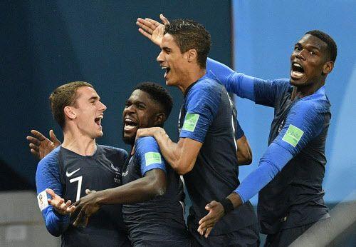 Antoine Griezmann, Raphael Varane, Paul Pogba y otros forman parte del gran talento de Francia que enfrenta el domingo a Croacia por la Copa del Mundo en Rusia 2018. (AP Photo/Martin Meissner)