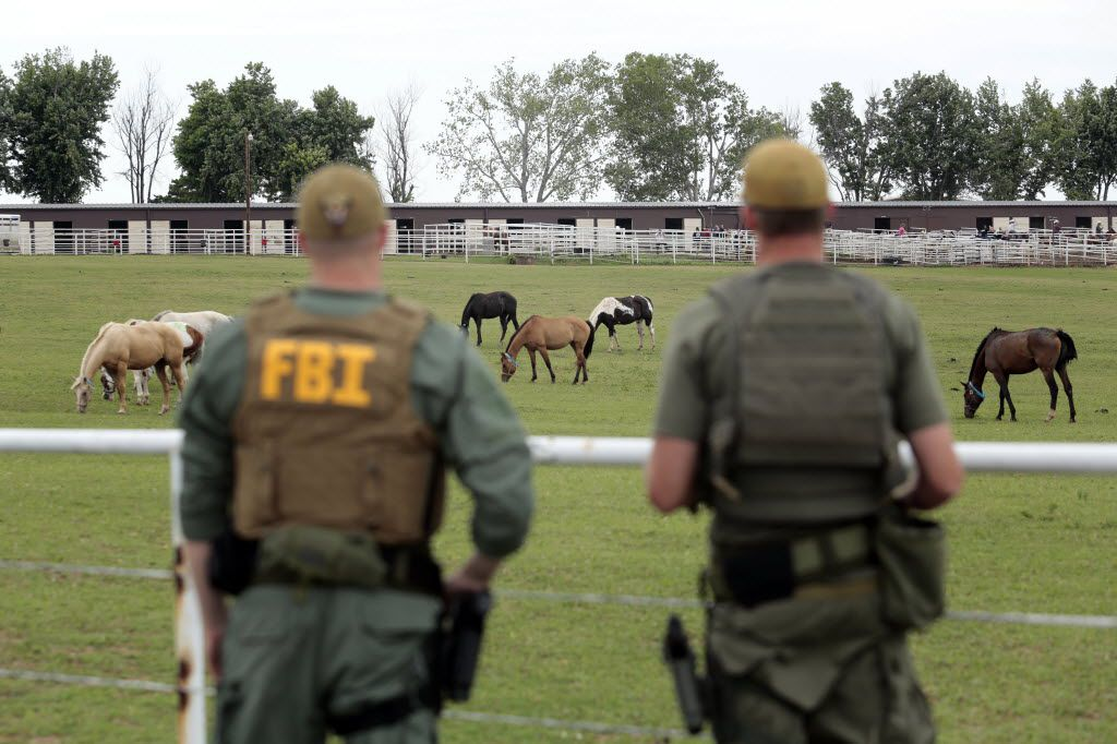 FBI agents surveyed an Oklahoma horse ranch connected to Jose Trevino in 2012. (File Photo/The Associated Press)