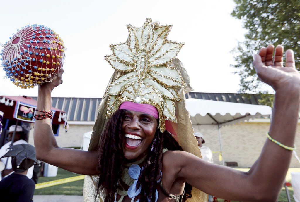 Isis Brantley, dressed as an African goddess, participated in the opening ceremony during the 40th Harambee Festival at the Martin Luther King Jr. Community Center in October 2014.