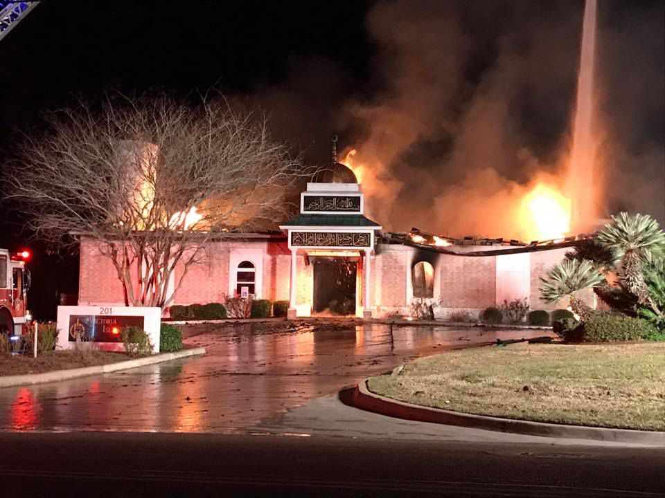 A fire tore through the Islamic Center of Victoria, a mosque, early Jan. 28, 2017. ORG XMIT: nT_VmgrvFpmWXc4wLc-e