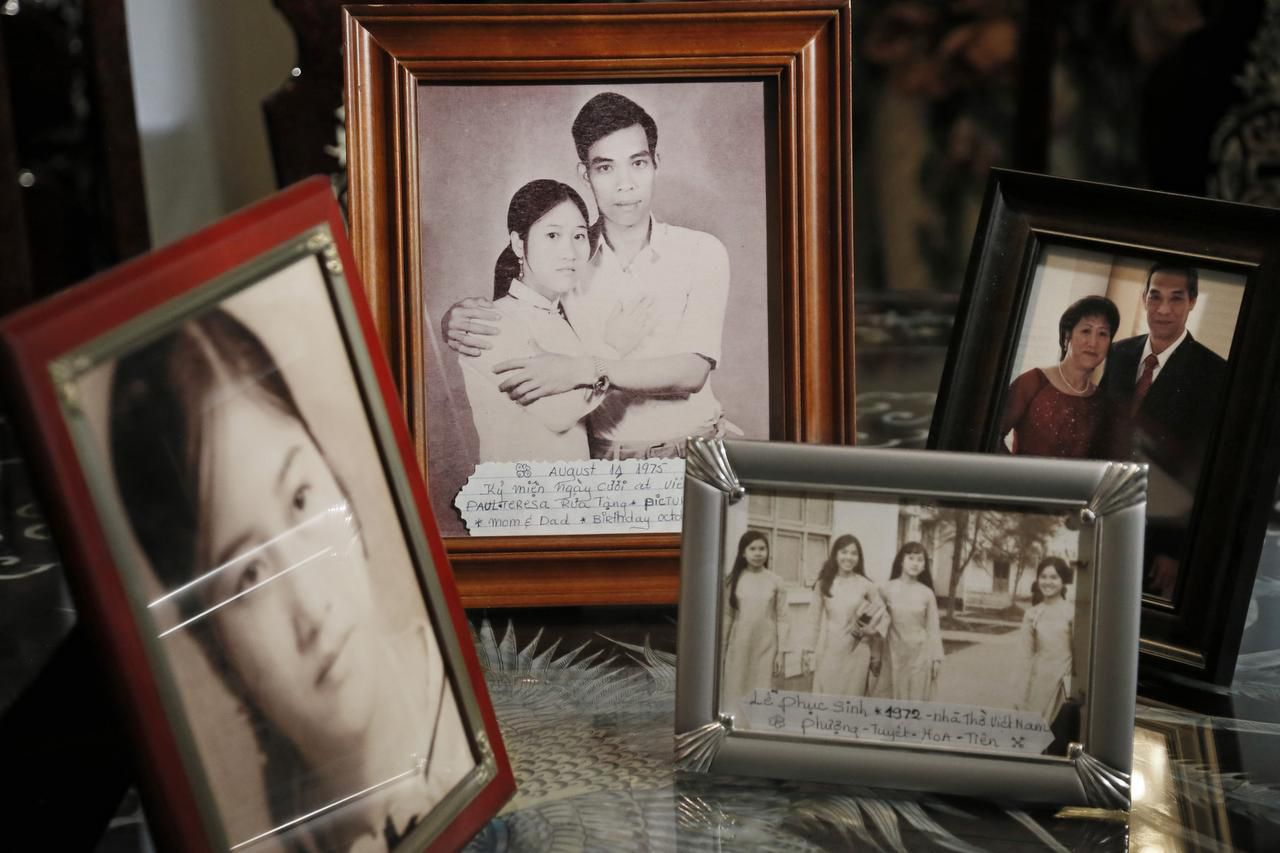 Photos trace some of the history  of Pho (Thomas) and Hoa (Mary) Nguyen, who left Vietnam by boat in 1980 and came to the U.S., eventually settling in Fort Worth. In 1988, the couple became American citizens and changed their names.