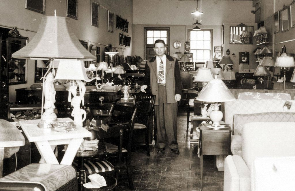 John Ray Weir, founder of Weir s Furniture, is standing in the original Weir's store on Knox Street. It was a small rectangle-shaped store. That's the original front door that remained in the same spot after several expansions of the store at 3219 Knox St. in Dallas. Weir founded the company in 1948. He died in March 2013 at the age of 102.