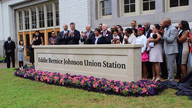 Officials gathered Saturday at a ceremony to rename Dallas' Union Station for U.S. Rep. Eddie Bernice Johnson.