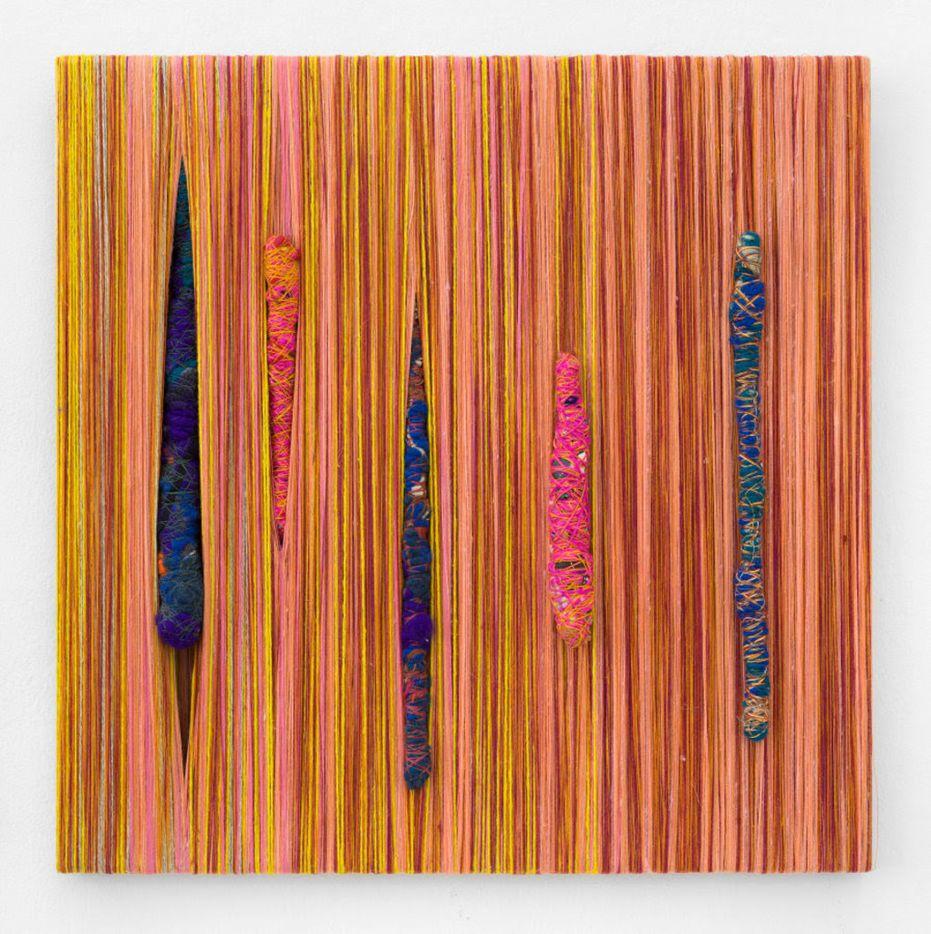 Sheila Hicks Zihzabal, 2018; pigments, synthetic fibers, cotton, linen