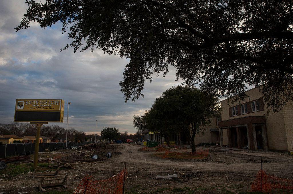 South Oak Cliff High School is seen Friday, Jan. 25, 2019 in Dallas. (Ryan Michalesko/The Dallas Morning News)