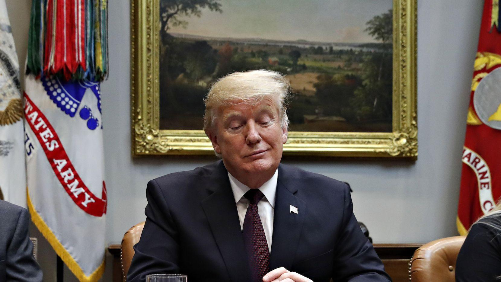 El presidente Donald Trump en la Casa Blanca. AP