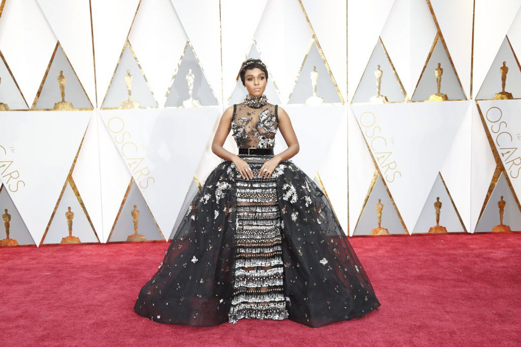 Janelle Monae arrives at the 89th Academy Awards on Sunday, Feb. 26, 2017, at the Dolby Theatre at Hollywood & Highland Center in Hollywood. (Jay L. Clendenin/Los Angeles Times/TNS)