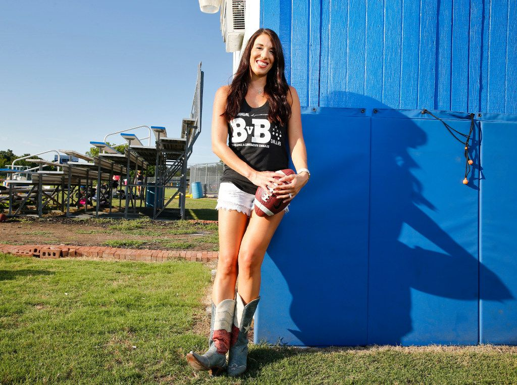 Erin Finegold White, founder of BvB Dallas, expects to raise $600,000 for four local Alzheimer's causes with the BvB Dallas Powder-Puff Football Game at the Cotton Bowl on Aug. 12.