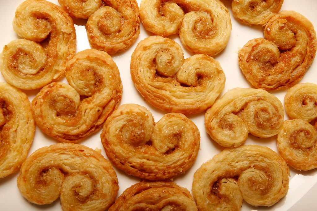 Palmiers made out of homemade puff pastry