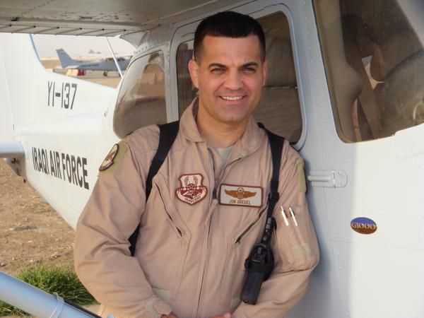 Jon Greuel served in the United States Air Force for 20 years. He partnered with organization Yoga Warriors to learn how to teach yoga for people who have suffered PTSD or other trauma.