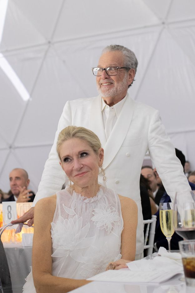 Cindy and Howard Rachofsky at the TWOxTWO for AIDS and Art event at the Rachofsky House on Saturday, Oct. 27, 2018.
