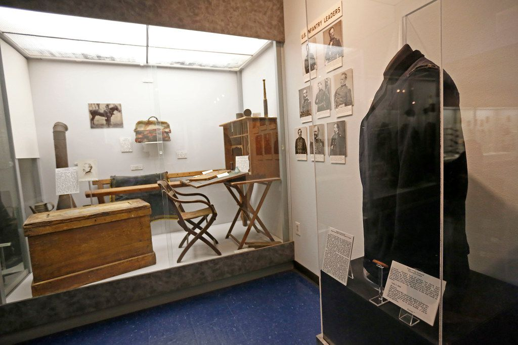 A field coat worn by Gen. Ulysses S. Grant and a field office are on display at Texas Civil War Museum.
