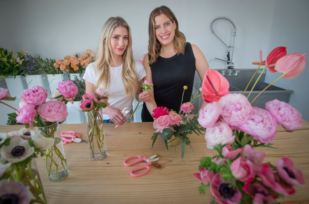 Ali Pickens (left) and Giselle Ruggeberg are the co-owners of Petal Pushers, a new flower shop in Deep Ellum.