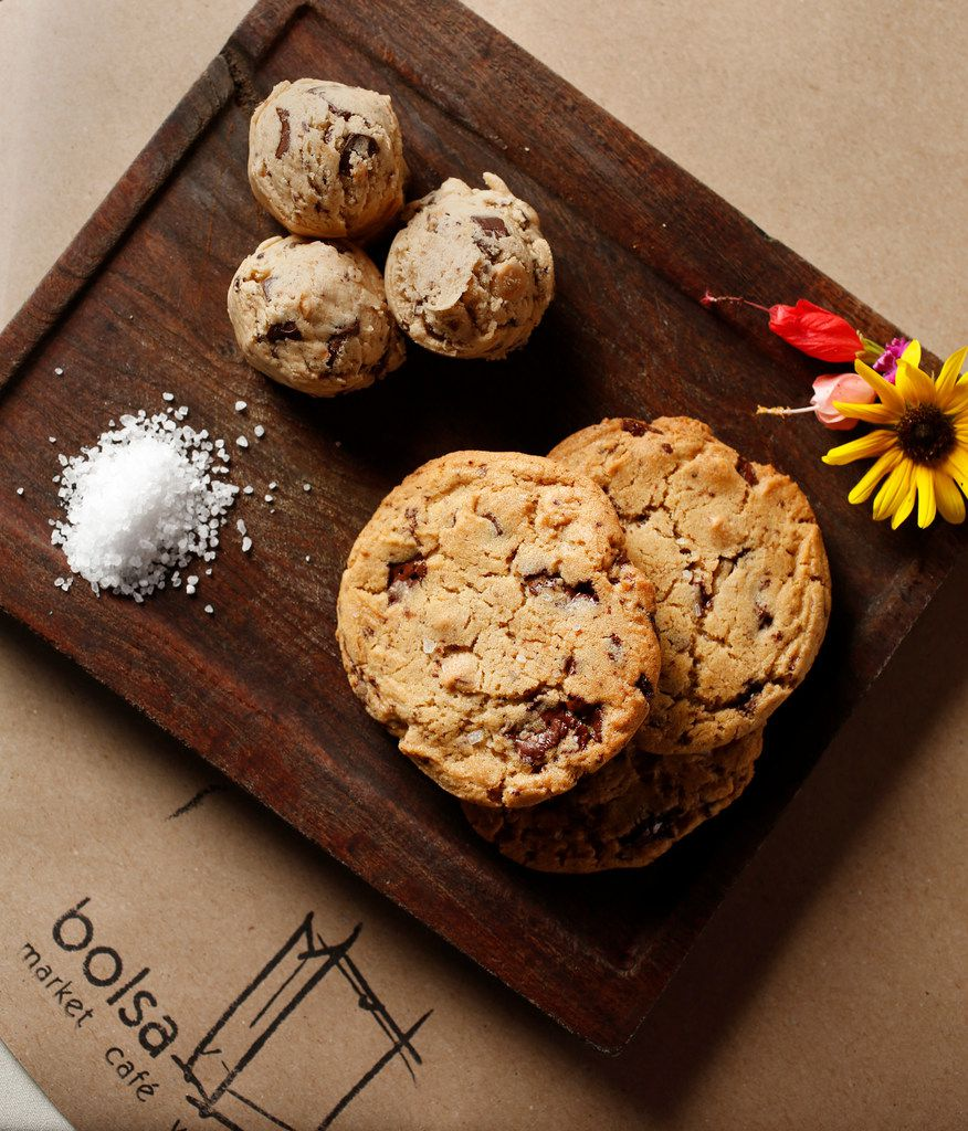 Chocolate and peanut butter chip cookies with sea salt