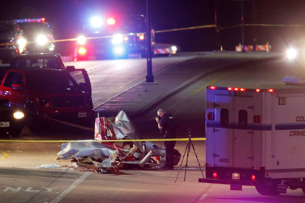 Three confirmed dead after two airplanes collided in midair near Custer Rd. and Virginia Parkway in McKinney on Saturday, December 31, 2016. (Vernon Bryant/The Dallas Morning News)